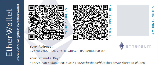 etherwaller paper wallet - 5 Types of Bitcoin Wallets You Can Use