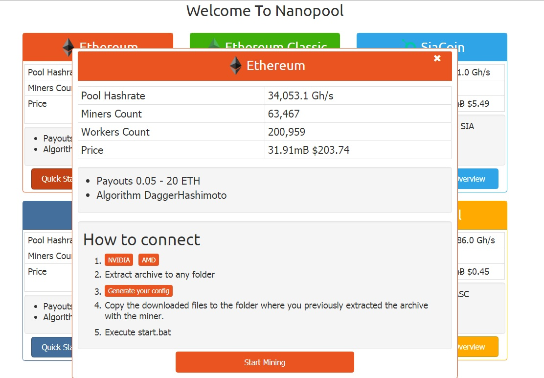 nanopool start - Ethereum Mining Beginner's Guide - How to Mine Ethereum (ETH)?