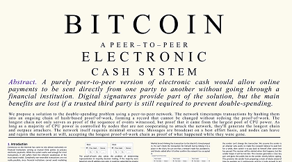 bitcoin1 351x185 - Free High Quality Bitcoin Whitepaper Poster