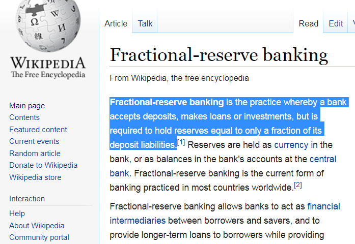 fractional reserve - Fractional Reserve Cryptocurrency Bank — 210 Million Bitcoins Supply