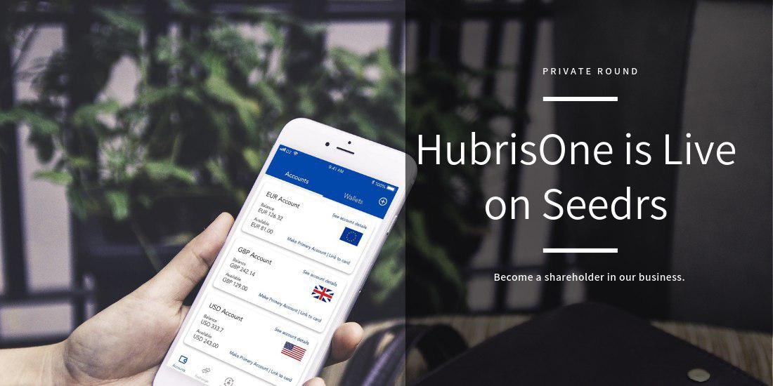 HubrisOne - HubrisOne Launches Private Seed Round on Seedrs