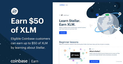 coinbase earn 351x185 - Coinbase is Giving Away $50 in Stellar Lumens (XLM)