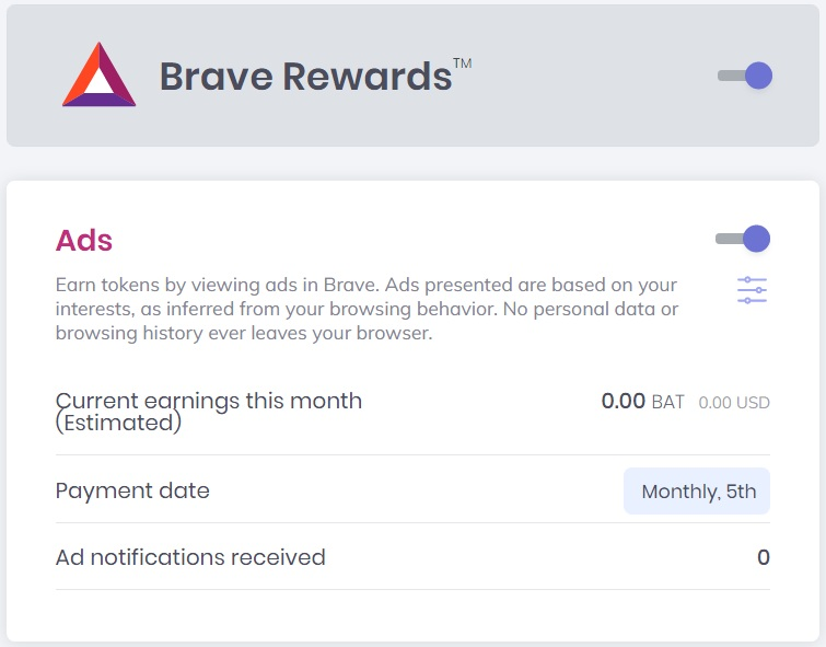 Altcoins - Brave Ads are Live: Users now can get BAT for Viewing Ads