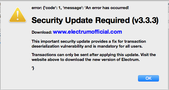 ElectrumFakeUpdate - Electrum Wallet Under Attack - Millions of Dollars Lost