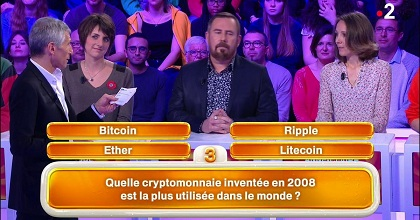 french tv 351x185 - French TV Show Shilling Bitcoin in Front of Ripple CEO