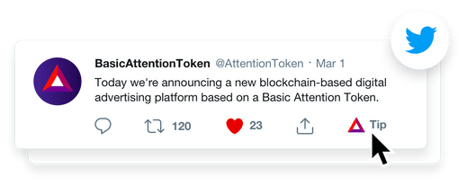 tip twitter - Now you can Tip Twitter Users in BAT using the Brave browser