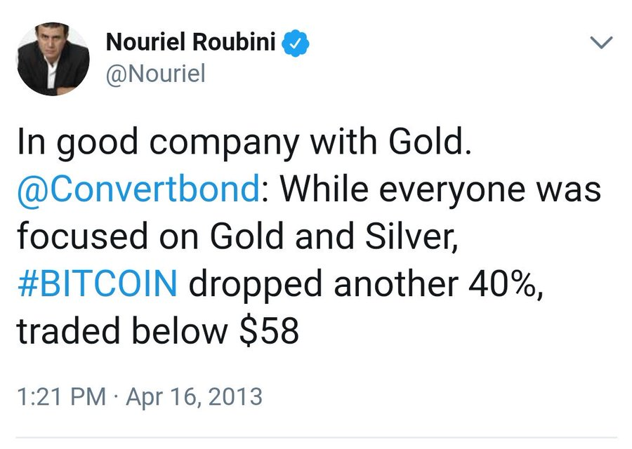 nouriel 58 - At Which Point Bitcoin Critics Will Admit They Were Wrong