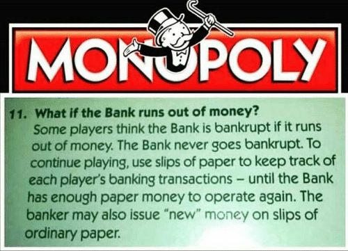 monupoly 11 - Elites Create Money From Thin Air While we Have to Work for Ours - Bitcoin Fixes This