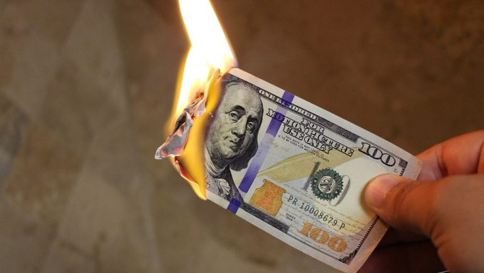 dollar burning - We are in the Final Stage of the Collapse of the FIAT Currency Empire