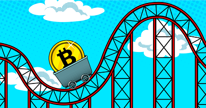 rollercoaster 351x185 - High Volatility in Bitcoin (BTC) - Altcoin Prices Take a Deep Breath