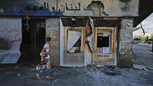 bank in tripoli - Massive Protests as the Lebanese Pound Collapses