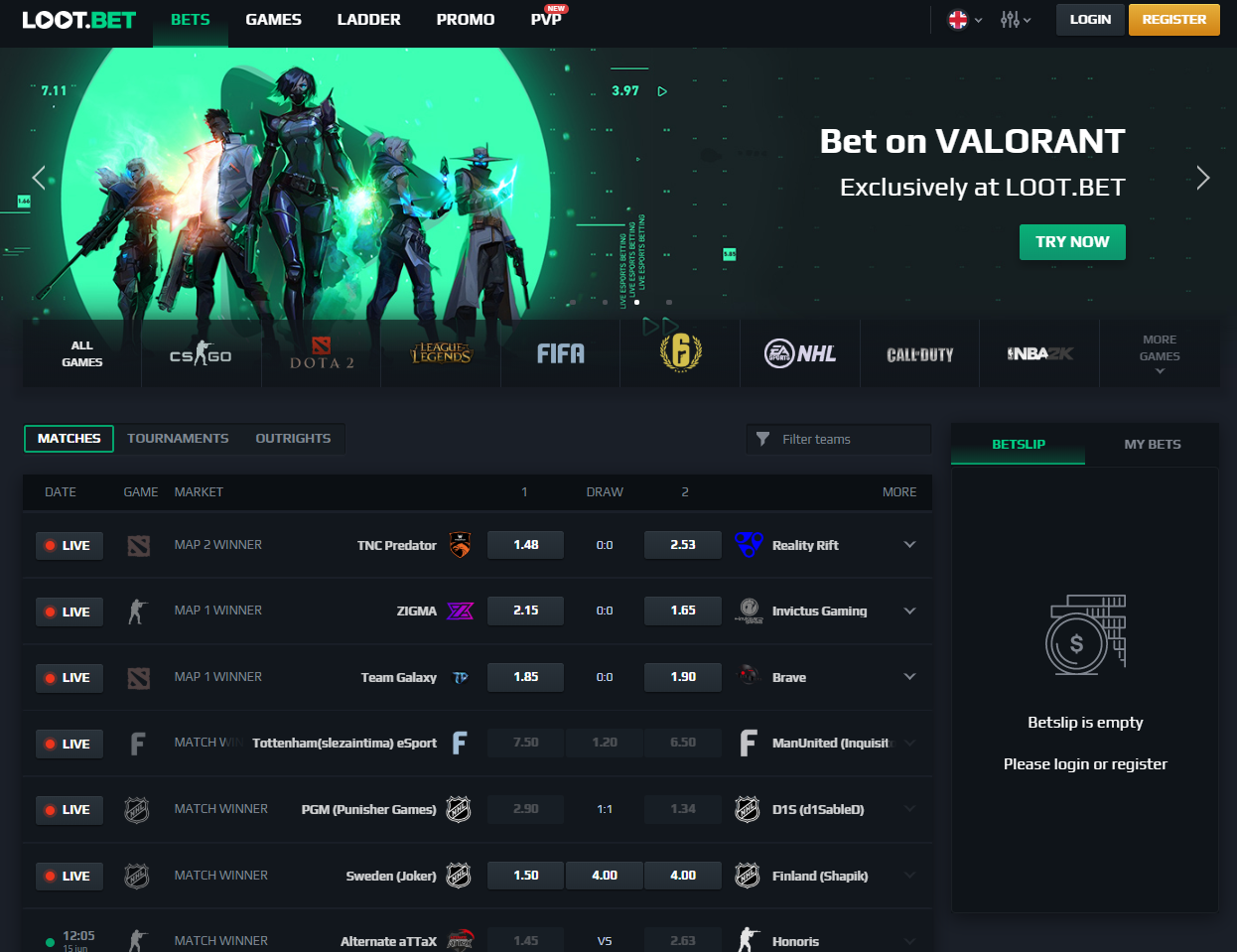 lootbet 1 - The Right Place to Bet on Esports with Bitcoin and Ethereum - LOOT.BET Review